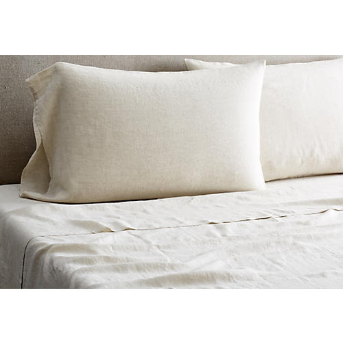 Washed Linen Sheet Set, Loomstate