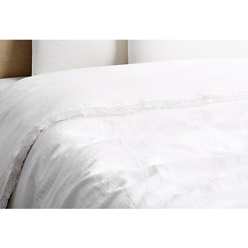 Cluny Duvet Cover, White