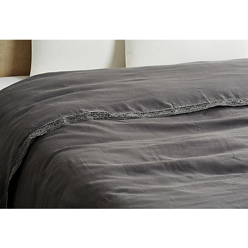 Cluny Duvet Cover, Coal