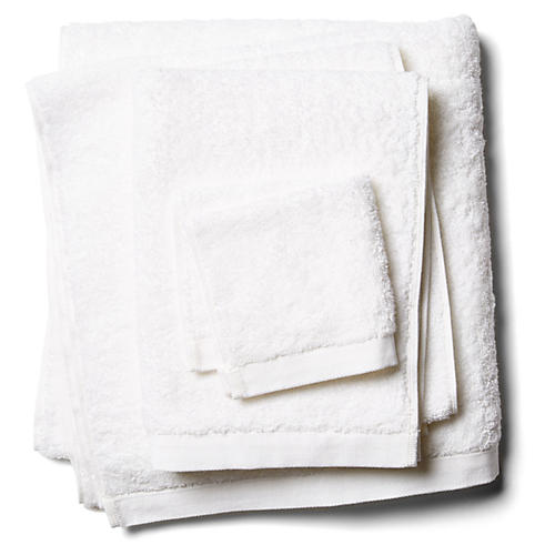 3-Pc. Riviera Towels, White