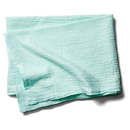 Exclusive Mesh Cotton Throw, Mint
