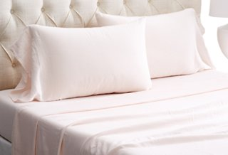 Washed Linen Sheet Set, Blush