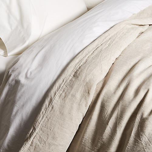 Washed Linen Duvet Cover, Loomstate