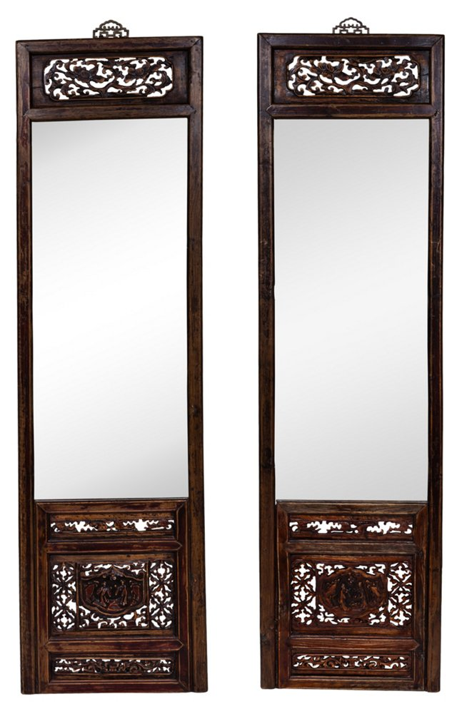 1930s Shanghainese Mirrors, Set of 2