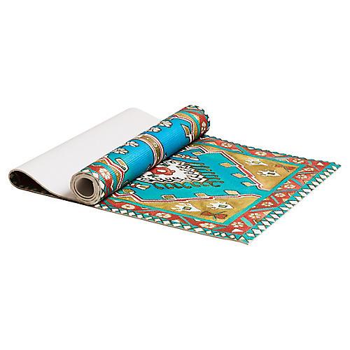 Yoshi Yoga Mat, Turquoise/Multi