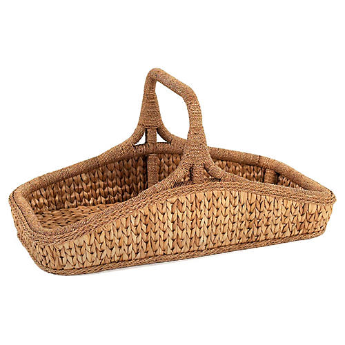 Sweater-Weave Wildflower Basket