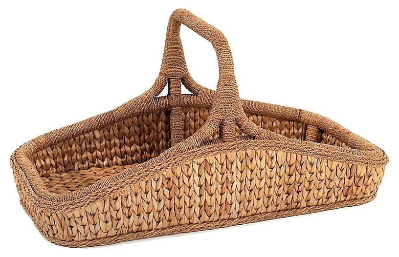 Sweater-Weave Wildflower Basket