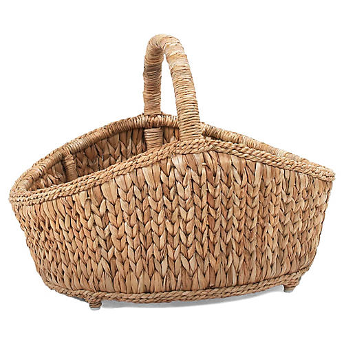 Sweater-Weave Cottage Basket