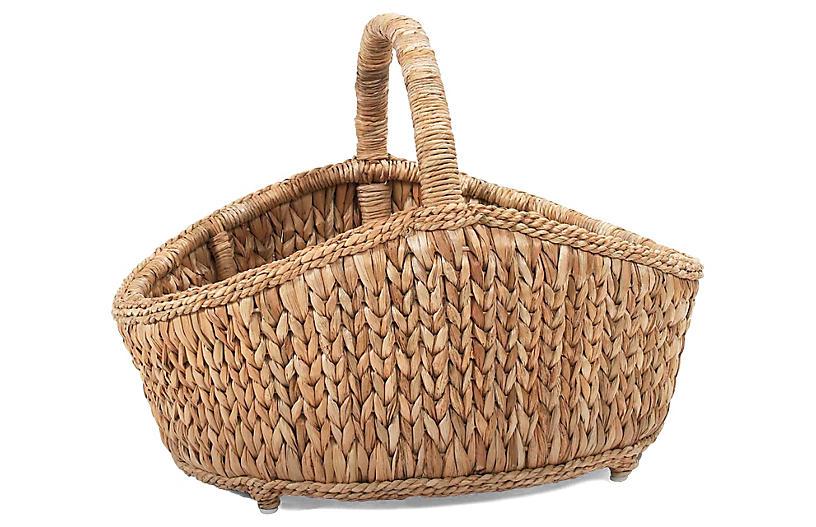 Sweater-Weave Cottage Basket