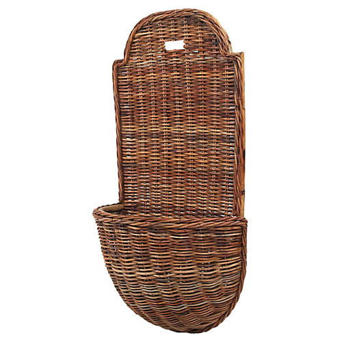 French Country Provençal Wall Basket