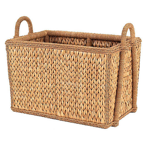 Sweater-Weave Square Basket, 21""
