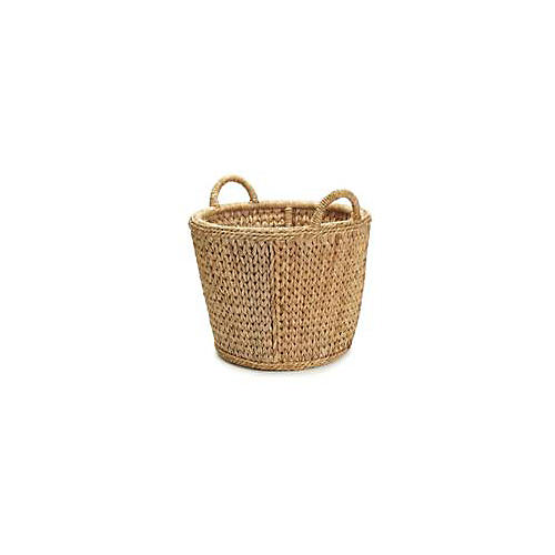 English Rattan Towel Basket, 22""