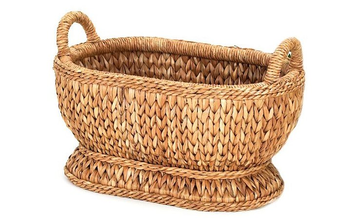 """Sweater-Weave Oval Compote, 19"""""""