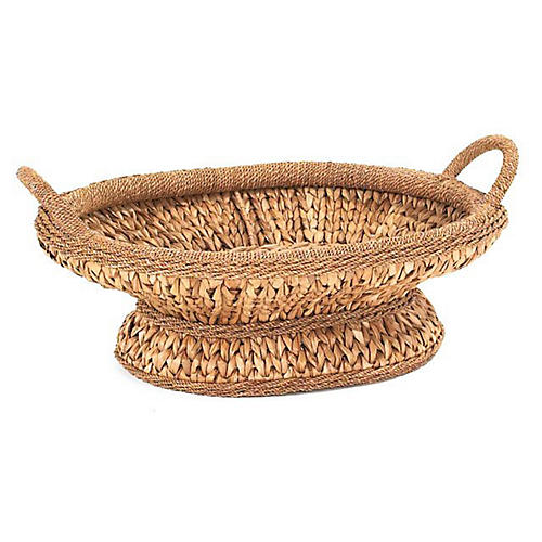 Sweater-Weave Centerpiece Basket, 23.5""