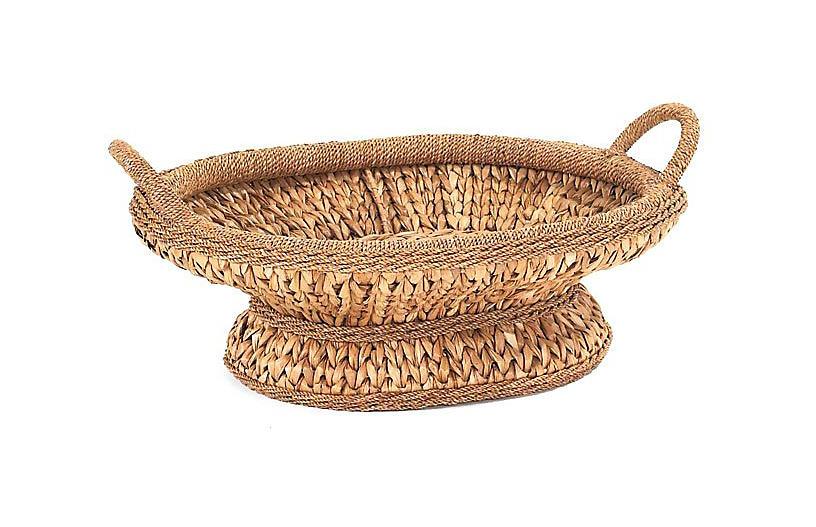 Sweater-Weave Centerpiece Basket - 23.5