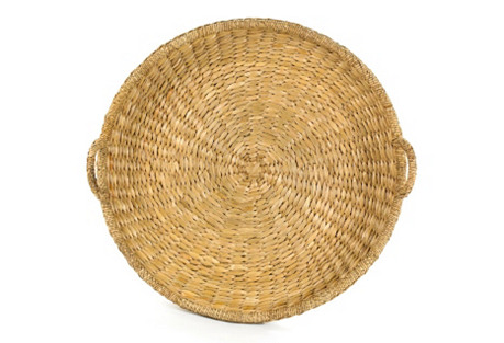 Sweater-Weave Round Trays, Natural