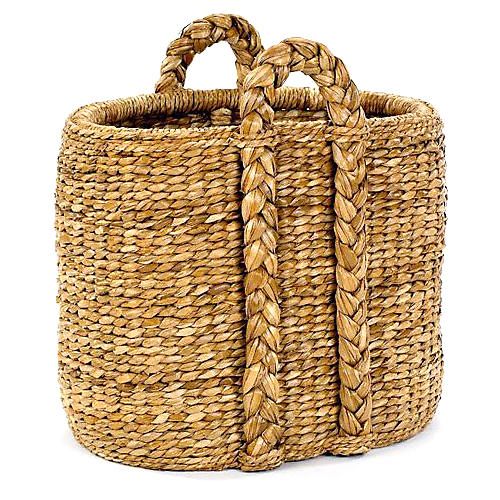 Oval Sweater-Weave Hearth Basket