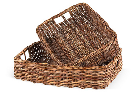 S/2 Country Storing Baskets
