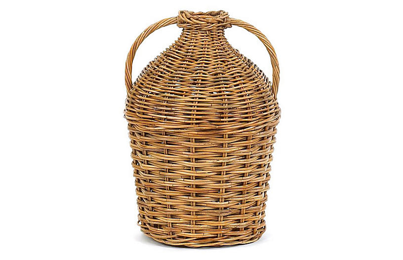 County French Double Handled Basket