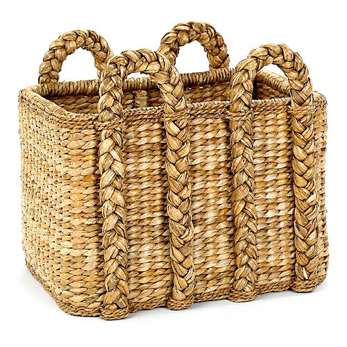 Rectangular Rush Basket, 26""
