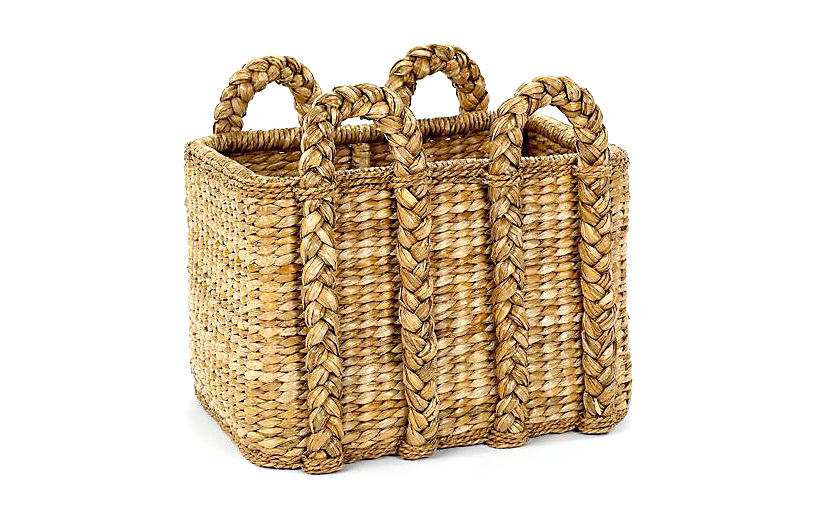 Rectangular Rush Basket, 26