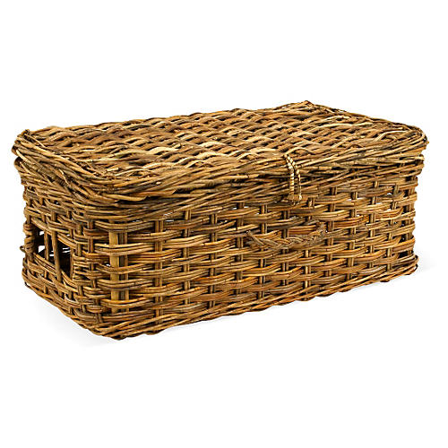 Cottage Suitcase Basket, 28""