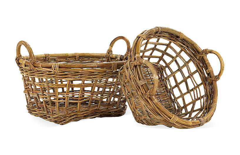 S/2 Countryside Produce Baskets