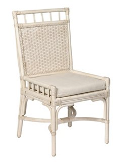 Rattan Desk Chair, White   Desk Chairs   Office   Furniture | One Kings Lane