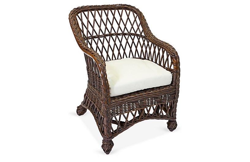 Lemonade Kids' Accent Chair, Dark Walnut