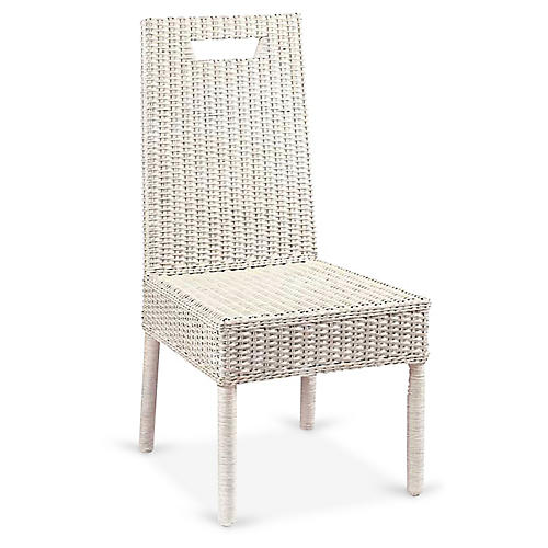 Loft Side Chair, Antiqued White