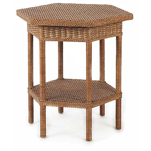 Loft Wicker Side Table, Chestnut