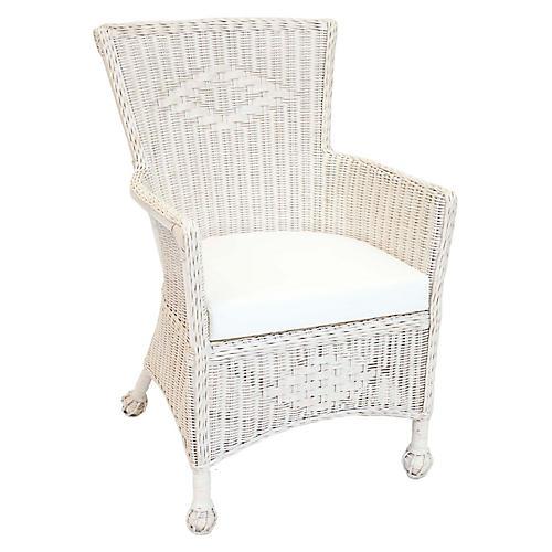 Veranda Wicker Armchair, White