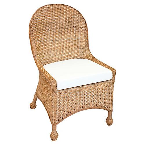 Eastern Shore Wicker Side Chair, Chestnut