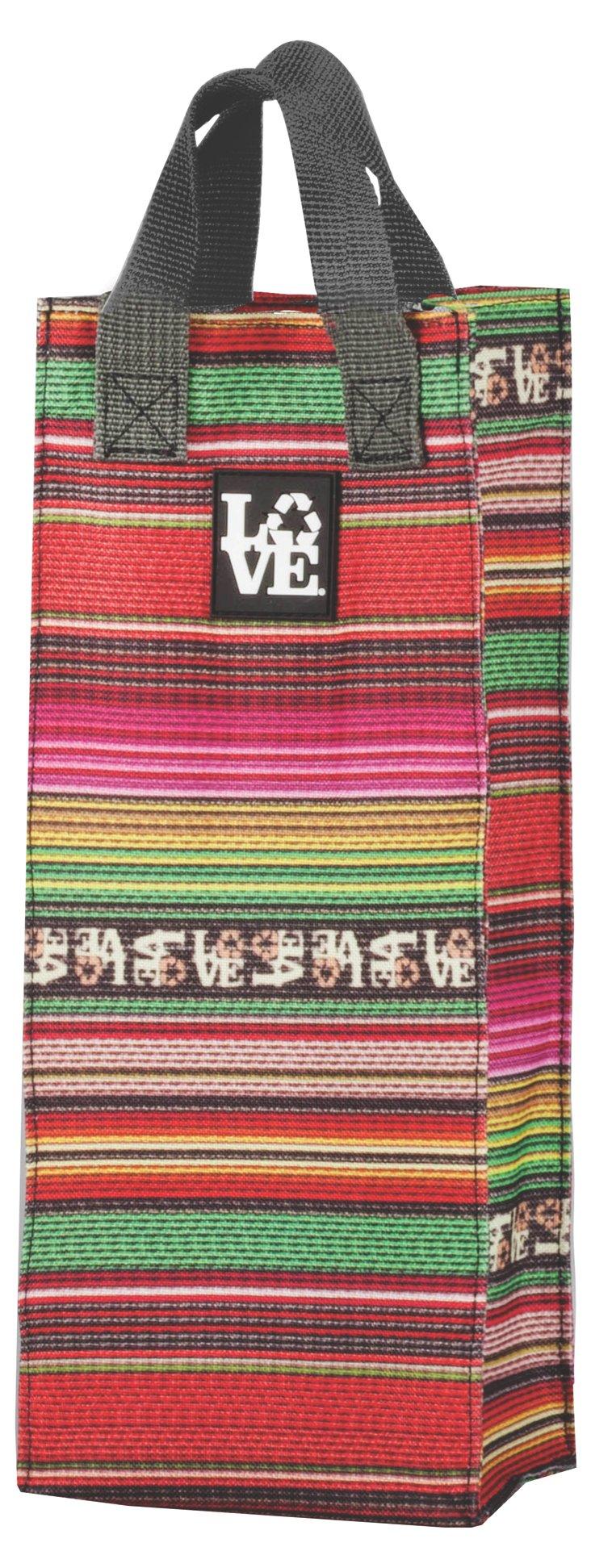 S/2 Wine Totes, Love Blanket