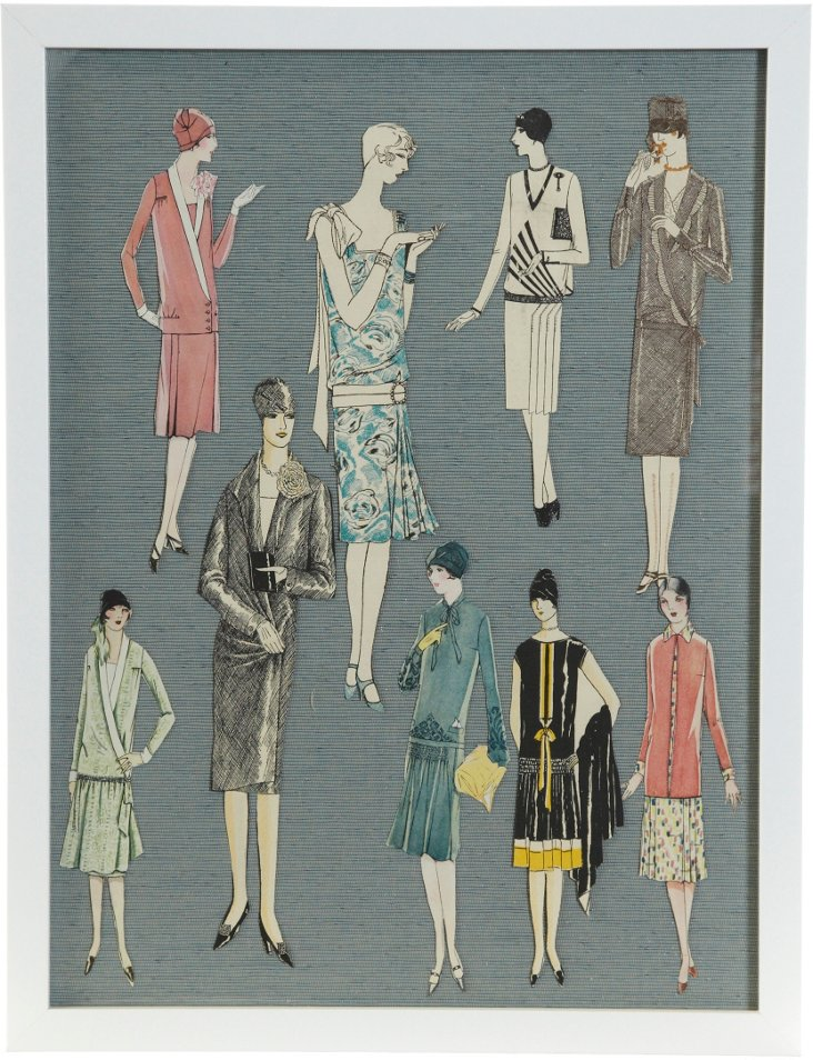 Framed Fashion-Plate Paper Dolls