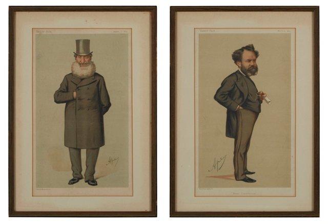Vanity Fair Spy Prints, Set of 2, I