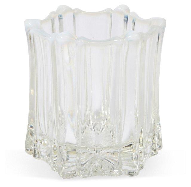 Hexagonal Glass Vase