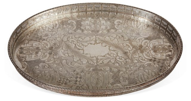 Silverplated Copper Gallery Tray