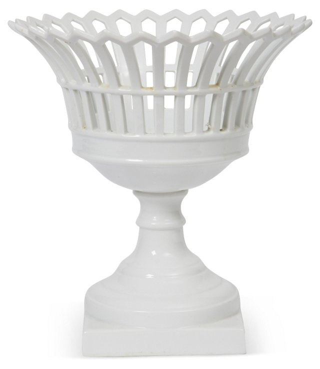 Reticulated Porcelain Compote