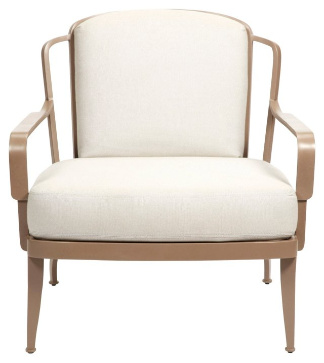 Bowmont Outdoor Chair, Tan/Ivory