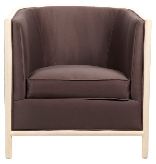 Lunette Lounge Chair, Espresso/Ivory