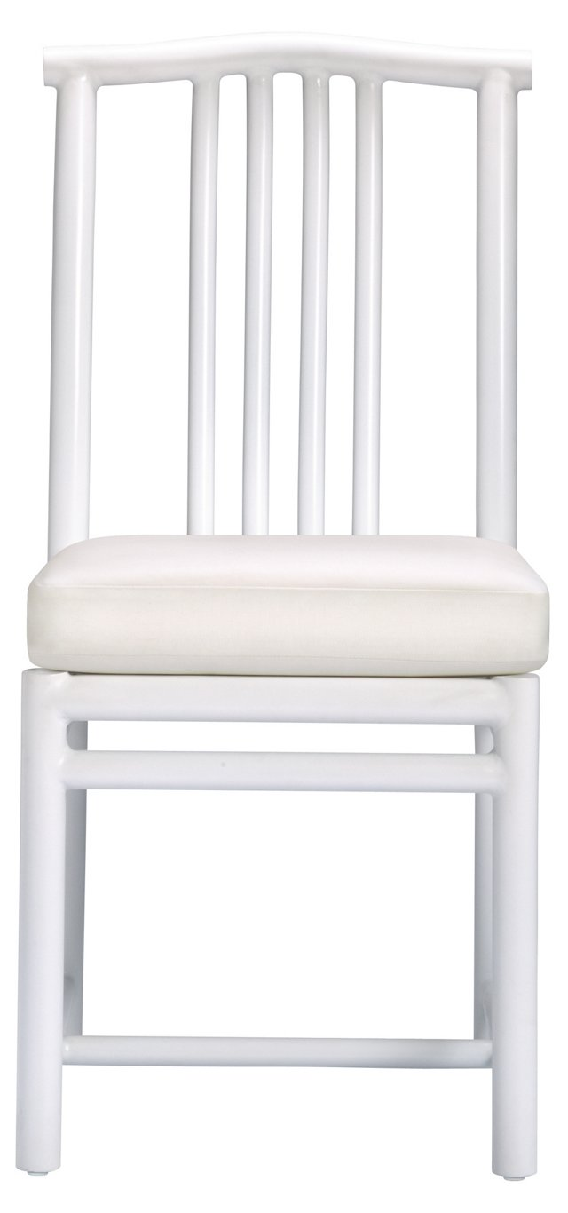 Ming Outdoor Garden Side Chair, Ivory