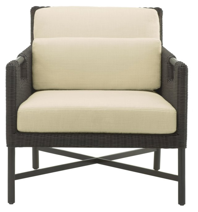 Pheasant Outdoor Chair, Espresso/Ivory
