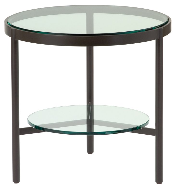Pheasant Outdoor Side Table, Bronze