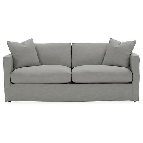 Shaw Slipcover Sofa, Mist Crypton