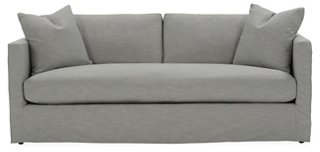 Shaw Bench Seat Slipcover Sofa, Mist Crypton   One Kings Lane   Brands |  One Kings Lane