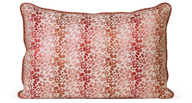 Lipstick Kiss Jacquard Pillow