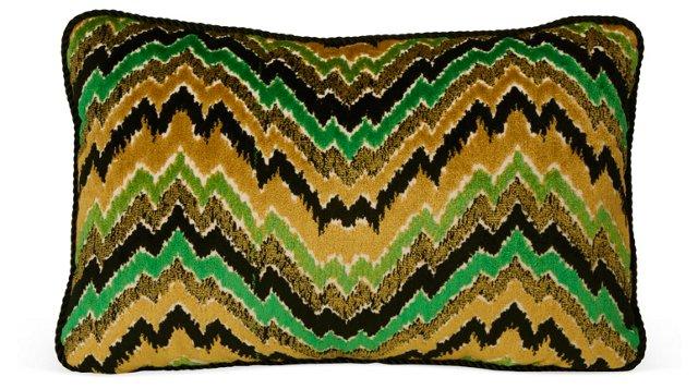 Velvet Zigzag Jacquard Pillow