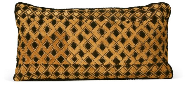 Crosshatch African-Textile Pillow