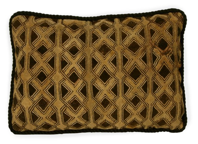 African Textile Pillow III